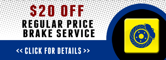 $20 Off Regular Price Brake Service