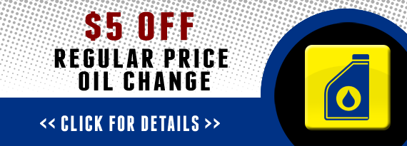 $5 Off Regular Price Oil Change